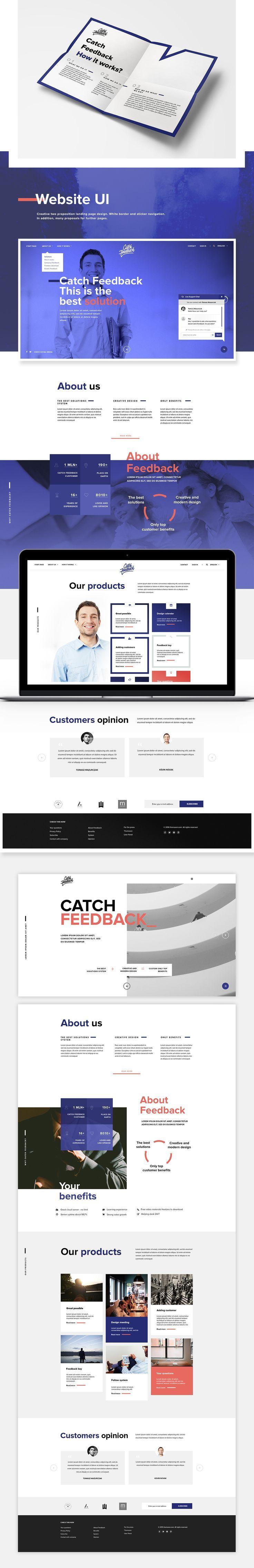Catch Feedback - Branding and Website on Behance