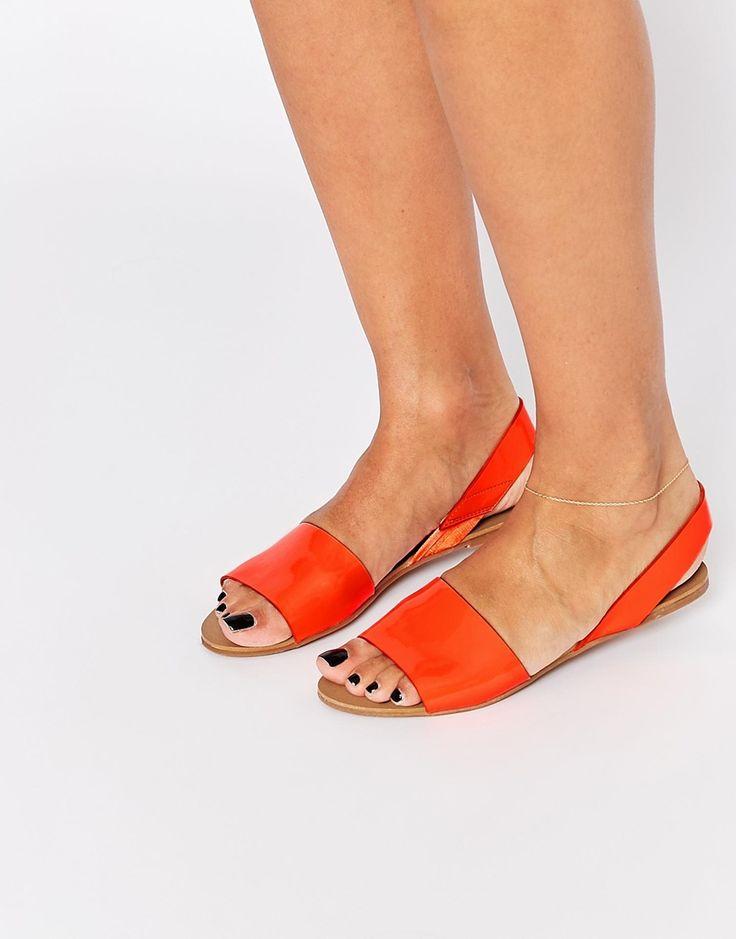 New Look Grenada Orange Flat Sandals