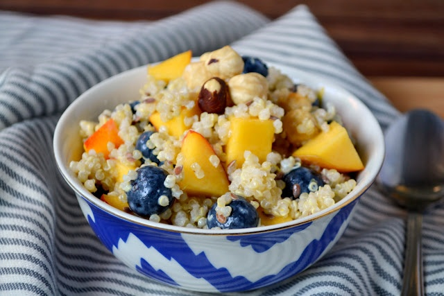 Blueberry Quinoa Breakfast Salad | K&K Test Kitchen | Pinterest