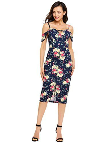 New Trending Formal Dresses: Zeagoo Womens Spaghetti Strap Floral Ruffle Cold Shoulder Slit Bodycon Midi Dress. Zeagoo Women's Spaghetti Strap Floral Ruffle Cold Shoulder Slit Bodycon Midi Dress   Special Offer: $22.79      322 Reviews Specifications: Please check your measurements to make sure the item fits before ordering. 1. Use similar clothing to compare with the size. 2. Choose...