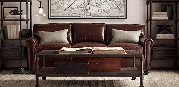 Leather Seating | Restoration Hardware, Lancaster Collection | Cool Finds |  Pinterest | Restoration Hardware, Restoration And Lancaster