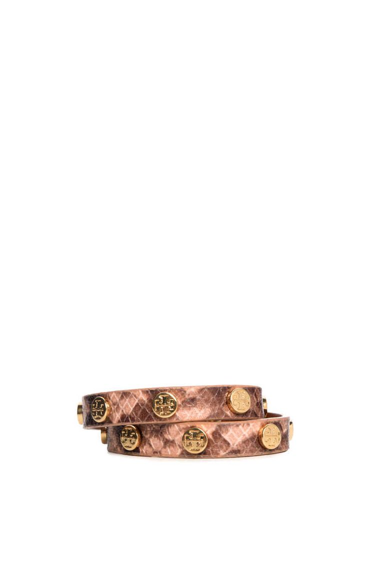 Armband Double-Wrap Logo Stud LIGHT OAK - Tory Burch - Designers - Raglady