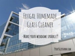 It's easy and cheap to make this homemade glass cleaner.