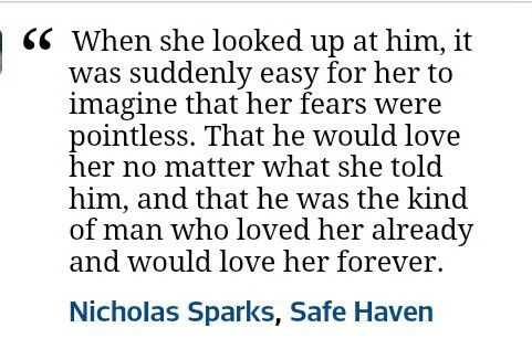 Beat safe haven quote ever