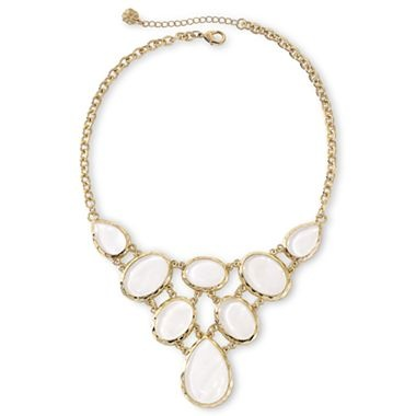 Monet® Abstract Mother-of-Pearl Bib Necklace - jcpenney