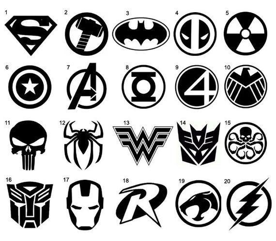 Superhero Stickers Vinyl Decal Kids Childrens Bedroom Cups Etsy In 2020 Superhero Stickers Custom Vinyl Stickers Vinyl Decals