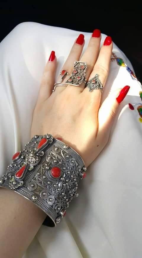 Bracelet et bagues en argent ~berbère~