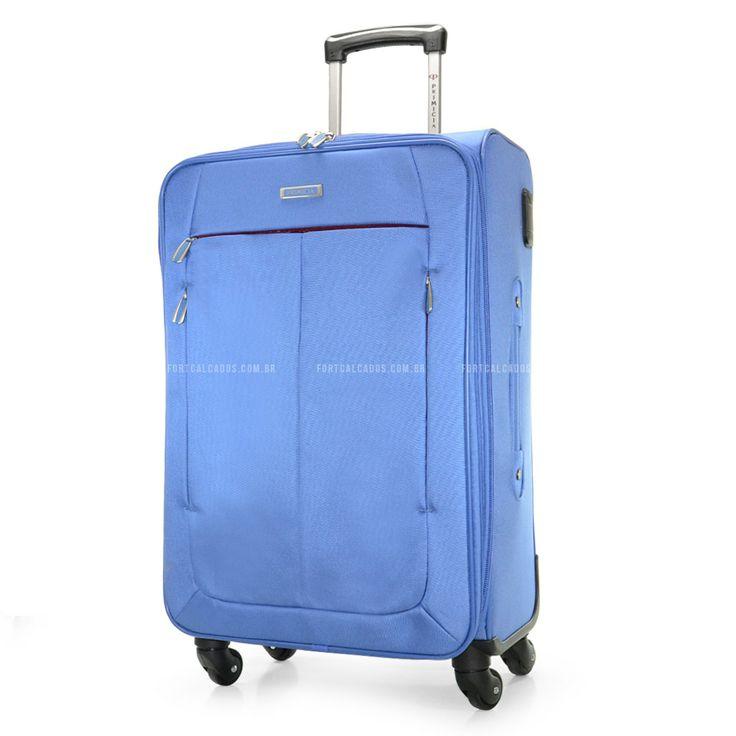 Mala de Viagem Primicia Aruba Azul com design de puro bom gosto! Ela atende as necessidades dos viajantes como segurança, conforto e durabilidade com perfeição.