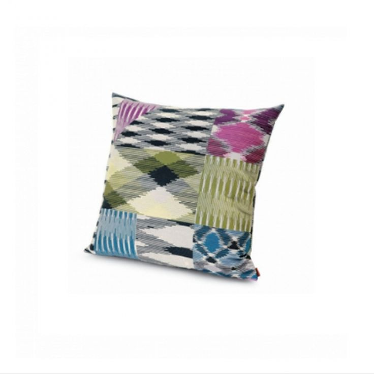 Part of the Missoni Home 2014 living collection Patch is a multicoloured cotton jacquard cushion. A contemporary design that is suitable for use on the sofa or bed. Pair with bright colours to make a bold statement or place on crisp white linen to dress your bedroom.  * individual cushions may vary due to the fabrics repeat, scale and position