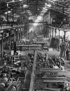 Fabrikhalle von Hillenkötter & Ronsieck. http://blog.hiro.de/2015/10/02/hirostory-umbau-in-den-50er-jahren/