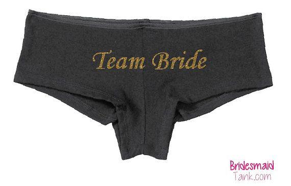 Black TEAM BRIDE Boyshorts Black BLING by BridesmaidTank on Etsy