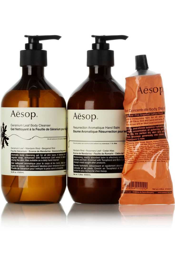 Aesop - their packaging is beautiful, the bottles are Eco friendly, and the rind concentrate balm smells fantastic