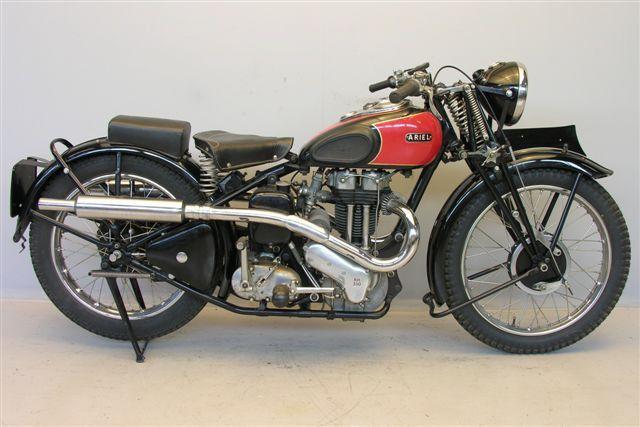 1938 Ariel Red Hunter 500cc AHRMA Race Bike   MotoFotoStudio
