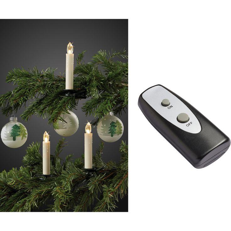 Das Basis-Set mit 10 kabellosen #Weihnachtsbaumkerzen in elfenbein-farben eignet sich hervorragend als Lichtquelle für den #Weihnachtsbaum und schafft durch ihr warm-weißes #Licht eine stimmungsvolle Atmosphäre.   http://lichttrends.at/produkte/3600963/
