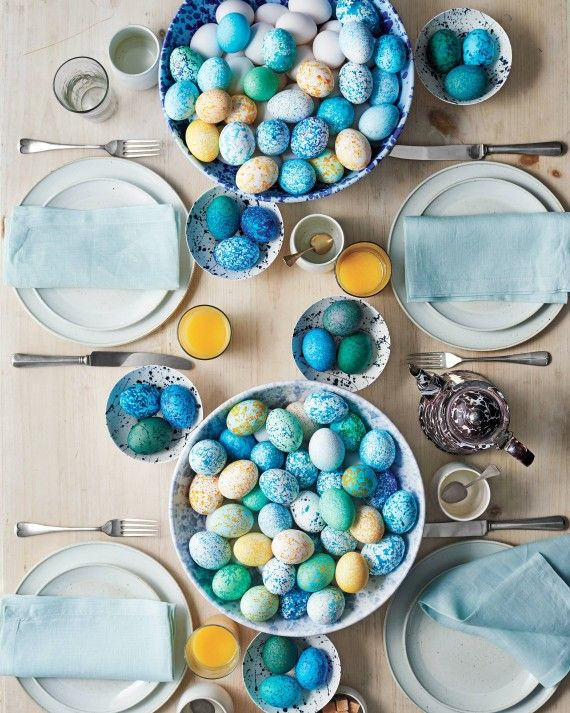 Looking for a last-minute Easter egg to impress your guests? All you have to do is shop your own pantry! To get the speckled look, simply mix food dye and dry foods (think beans, nuts, and popcorn kernels) in a paper cup, then add a hard-cooked egg. Gently shake and swirl the cups to create stunning speckles. Watch the Tutorial Video