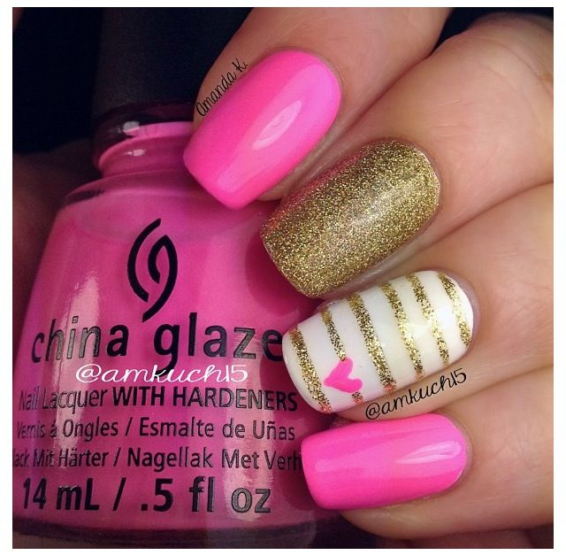 61 best bellesa images on pinterest makeup make up and nail art cute nail art design pink and goldpink prinsesfo Choice Image