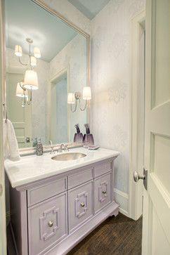 Photo On Rockyview Dream transitional Powder Room Calgary Rockwood Custom Homes Lavender BathroomBathrooms DecorBathroom