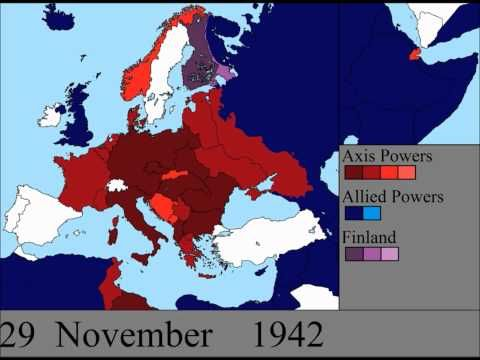 Watch the Second World War unfold over Europe in 7 minutes, w16-17 (world history) An amazing perspective!