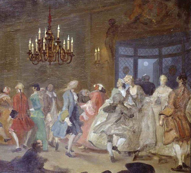 William Hogarth,  The Dance (The Happy Marriage VI: The Country Dance), circa 1745
