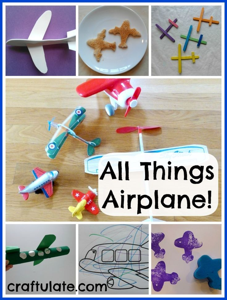 All Things Airplane Airplane Crafts Transportation Crafts