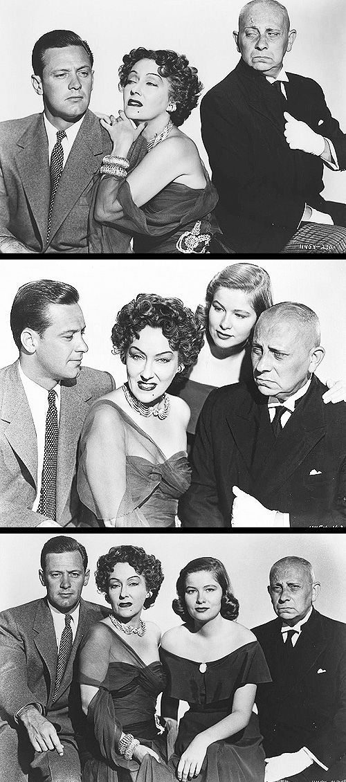 Sunset Boulevard (1950).  gloria swanson, william holden, erich von Stroheim, and nancy olson