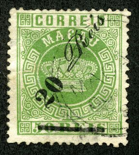 Macao (Macau) 1885 Scott 20 20r on 50r green
