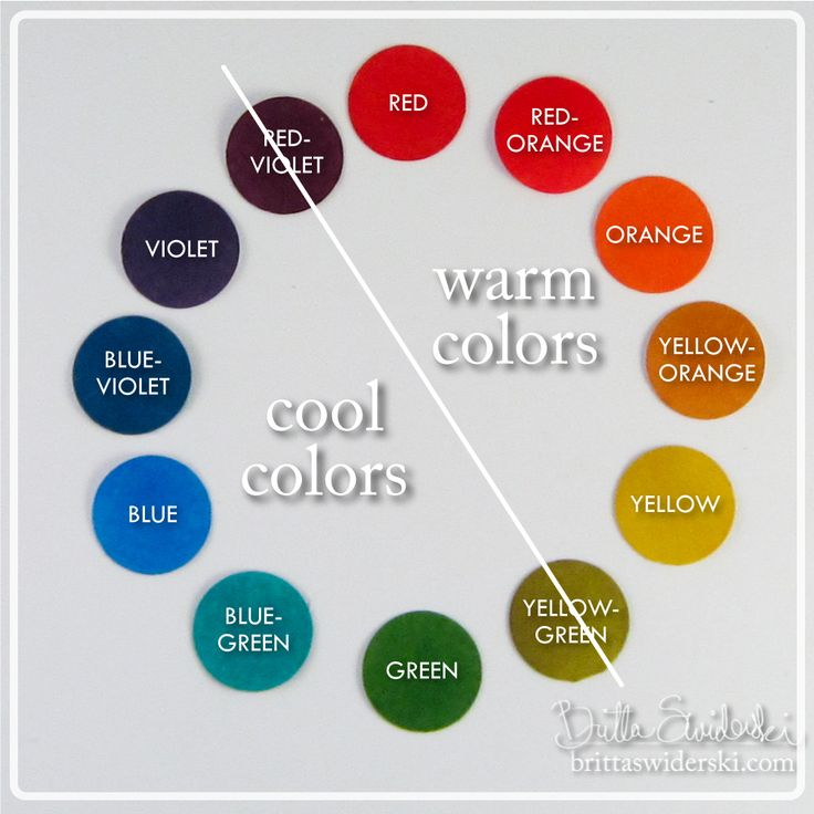 Warm and Cool Colors - Color Wheel Part 2: Color Relationships by Britta Swiderski