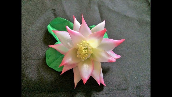 Lotus kanzashi. Kanzashi Tutorial