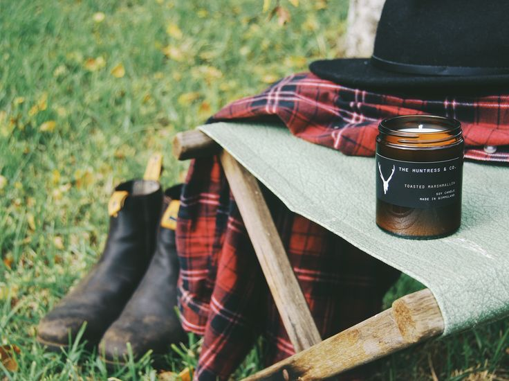 Camping toasted marshmallow Soy Candle by The Huntress & Co.