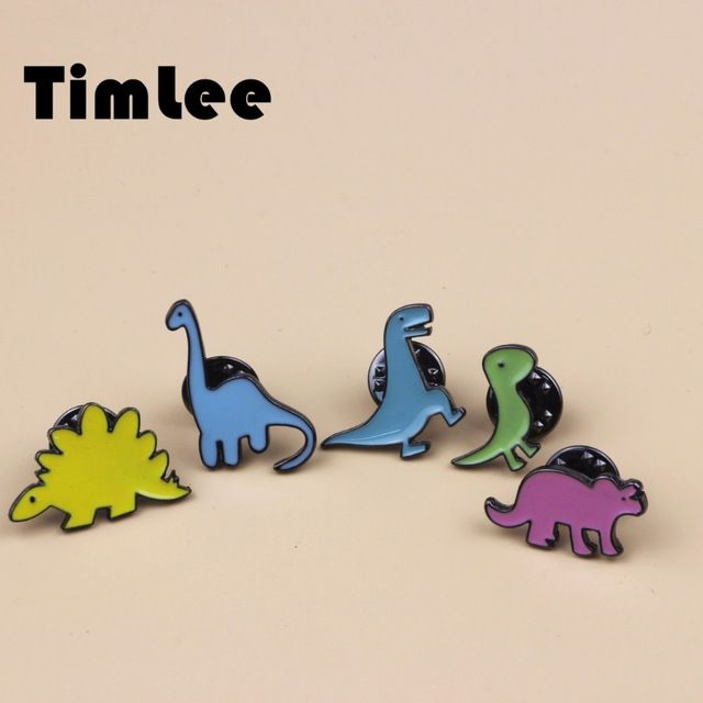 X063  Free shipping Cute Kids Dinosaurs Dragon Brooch Pins,Fashion Jewelry Wholesale