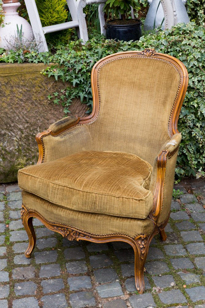 19th Century Drawing Room: Wonderful French Drawing Room Chair, 19th Century, Shabby
