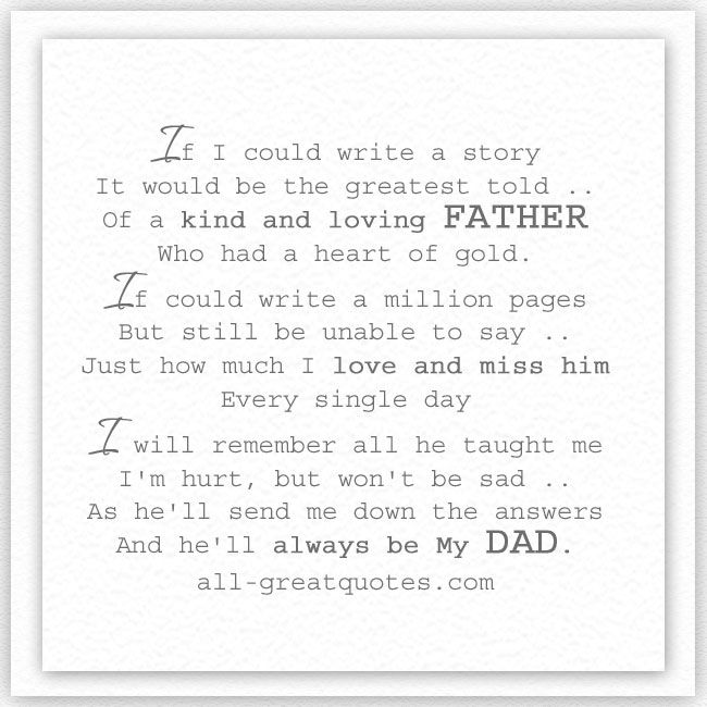 My Dad Dads And Father In Memory Of: Kind And Loving Father