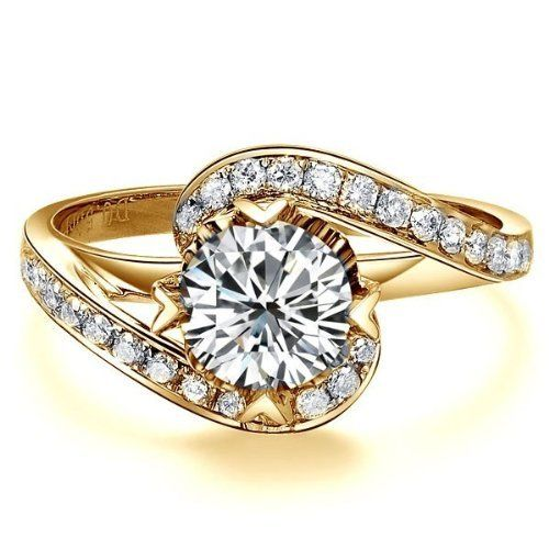 1.67 CaratRound Cut DiamondMultistone Ring on 14K Yellow - Gold FineTresor. $9777.57. Diamond Color: I-J. Center Dimond Carat Weight: 1.00. Center Diamond Cut: Round. Metal: 14 K Yellow - Gold. Diamond Clarity: I1-I2