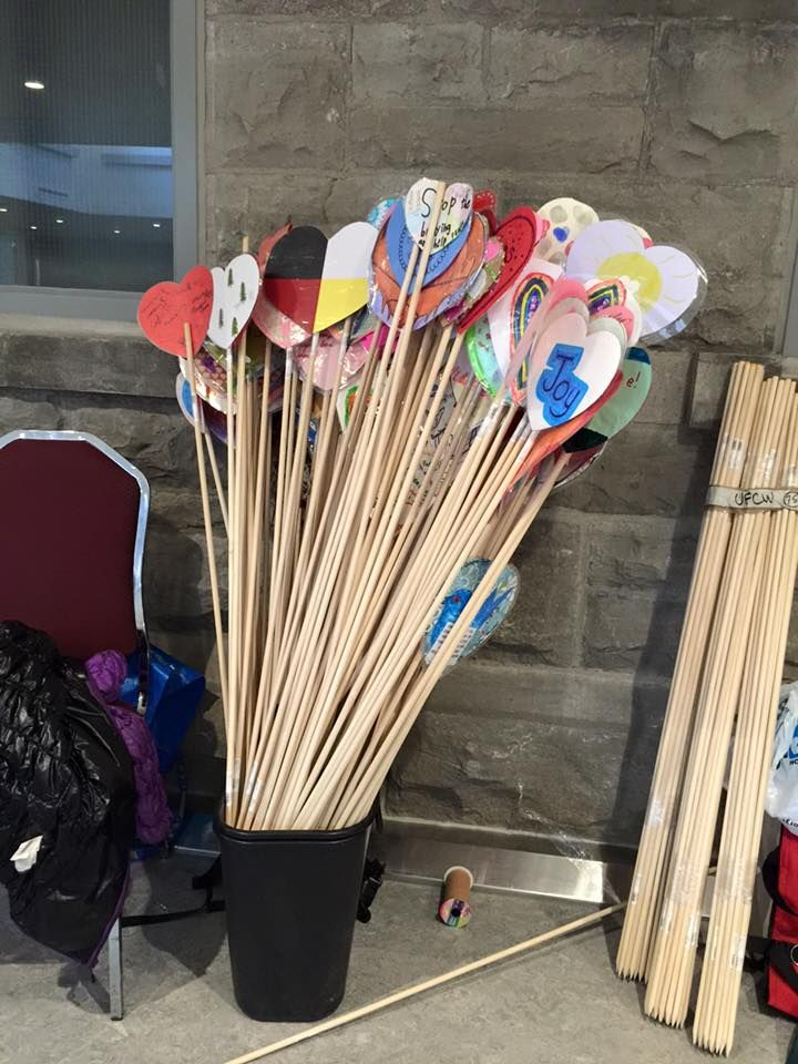 Hearts, waiting to be planted at Rideau Hall. Hearts created by children from across Canada - honouring the children lost to the Indian Residential School system and marking new possibilities in reconciliation.