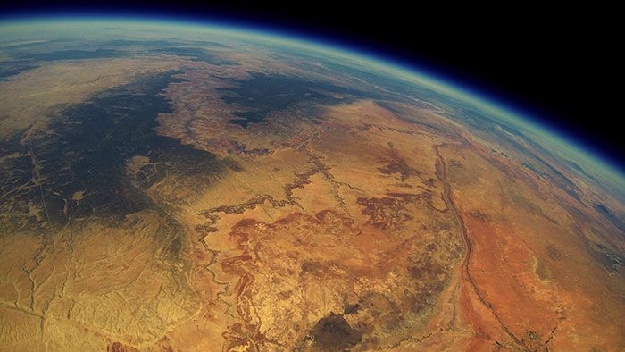 Viral story: stunning stratosphere shot recovered from a lost weather balloon…