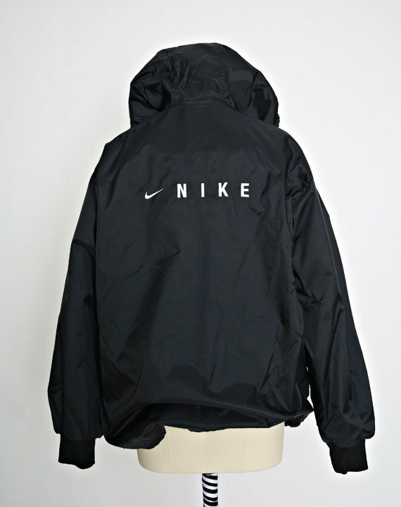Black and white striped nike jacket
