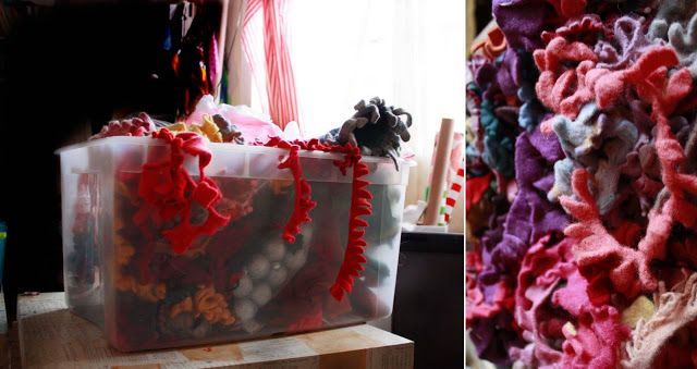 Friday Flowers: Making Sweater Felt in the Washing Machine - Aunt Peaches