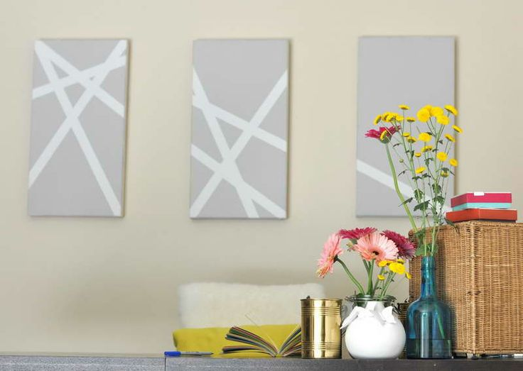 homemade canvas art ideas