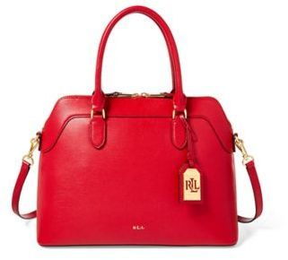Ralph Lauren Saffiano Leather Nora Satchel Red One Size | purse | Valentine's Day dress | Valentine's Day Fashion | Valentine's Day outfit | Valentine's Day OOTD