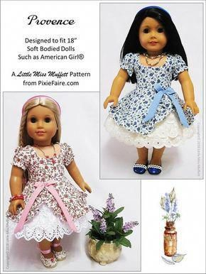 Provence 18 Doll Clothes Pattern