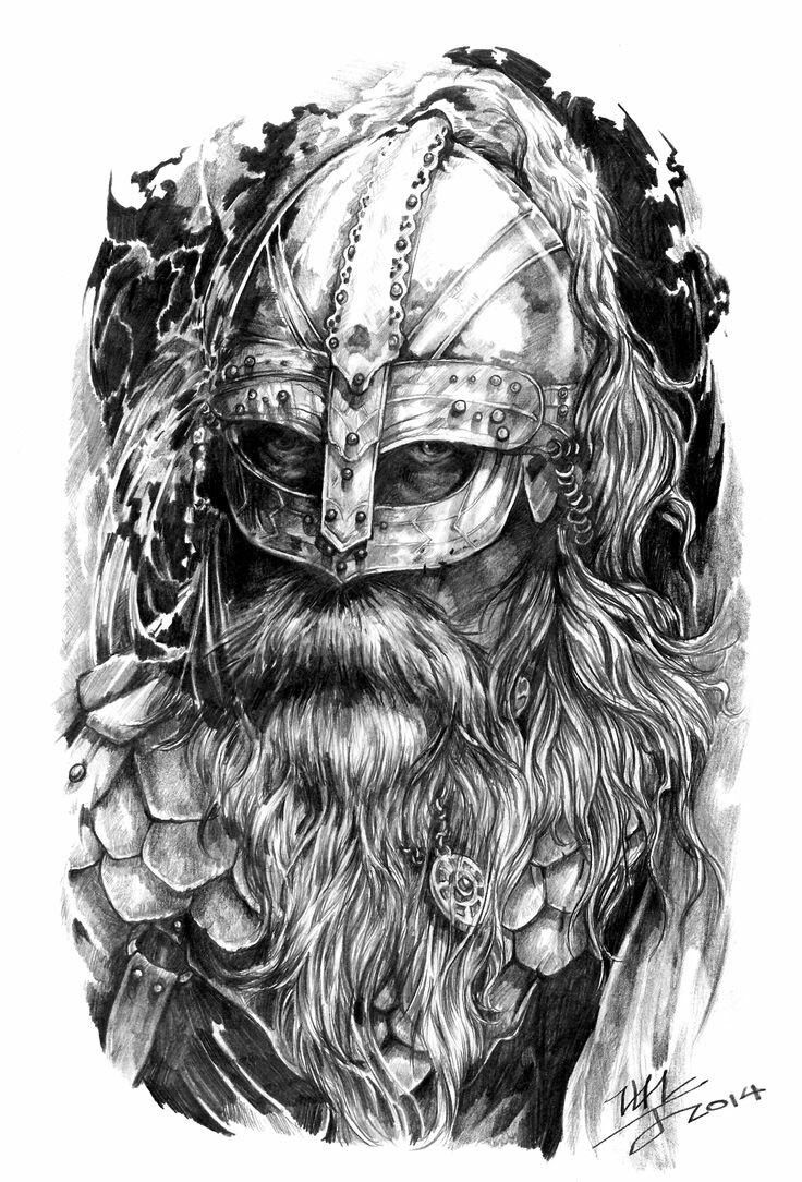 35 best Viking Head Tattoo Drawings images on Pinterest ...
