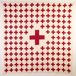 red cross quilt . . .