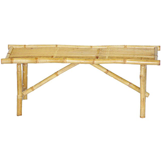 Enjoy extra seating indoors or out with this genuine bamboo bench. Handcrafted from renewable, environmentally friendly bamboo by Vietnamese artisans, this bench folds for easy storage and adds a natural, warm touch to virtually any decor.