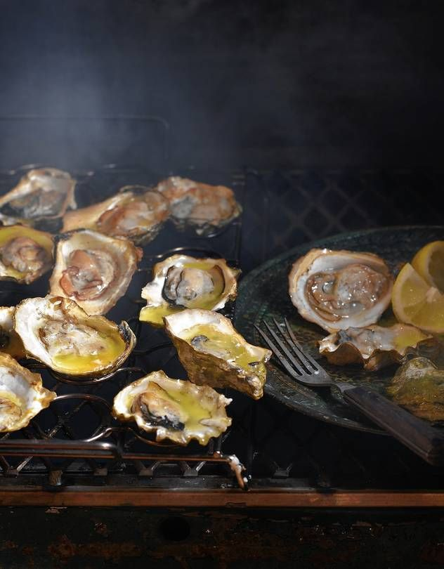 Oysters Smoked on the Half-Shell
