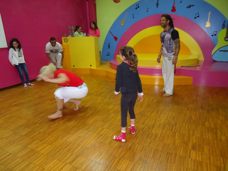 Atuação de uma escola de capoeira