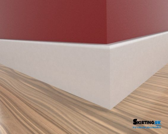 This is Skirting UK's Bullnose skirting board in White.  This style is one of the many perfect profiles for a modern home style. The profile curve is 12mm.