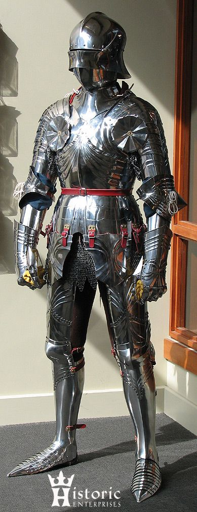 Armour- a knights amour was a very important part of combat. It is what helped soldiers withstand a certain intensity of blows. Usually these suits are made from heavy metal and are respected by those inside of them.