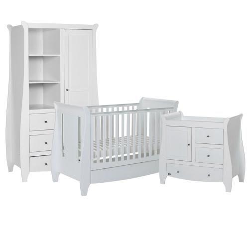 Tutti Bambini Lucas 3 Piece Nursery Furniture Set - White