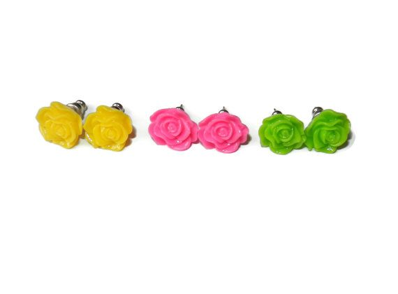 bright neon yellow pink and green rose resin by cloudninedesignz 1000 beamsderfer bright green office