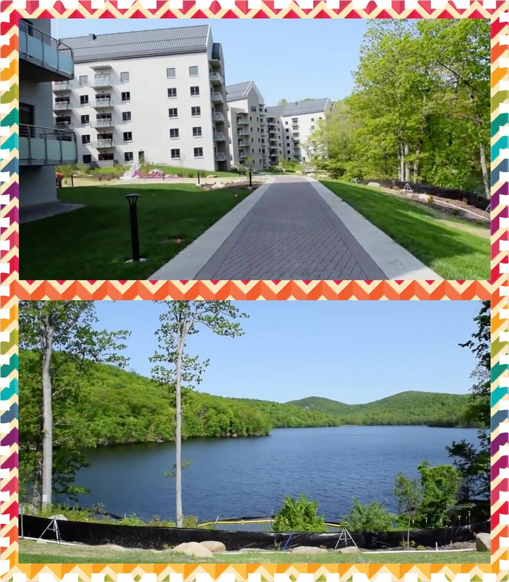 Warwick Bethel: This is the view that many of the Bethelites have from their rooms. The residence complexes (above) overlook the Sterling Forest and Blue Lake (below).  Visit BethelTrips.net today and book a spiritually refreshing trip you'll never forget!